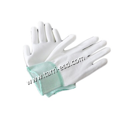 Cleanroom PU palm fit glove